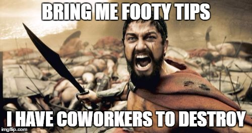 office footy tipping comps - shit just got serious